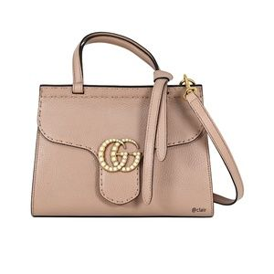 Gucci GG Marmont Mini Pearly Top-Handle Satchel